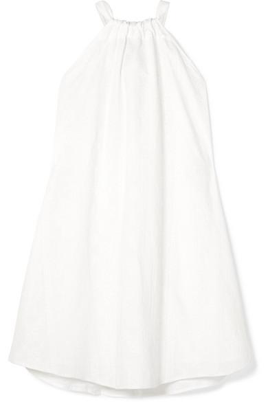 KALITA Charlie reversible embroidered cotton mini dress