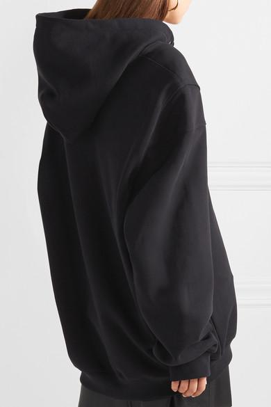 we11done Bedrucktes Oversized-Kapuzenoberteil aus Baumwoll-Jersey