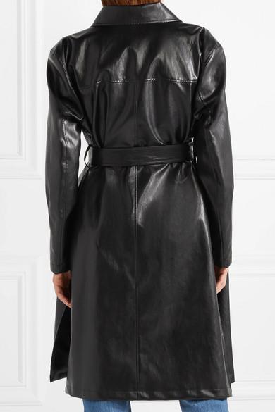 Rabatt Hohe Qualität Billige Usa Händler we11done Mantel aus Kunstleder Günstige Preise Zuverlässig Billig Verkauf 100% Garantiert 2018 Neue OpkZ1JcS