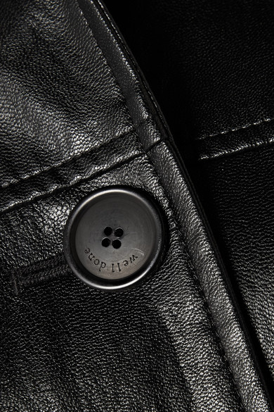we11done Mantel aus Kunstleder