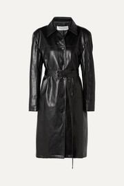 we11done Faux leather coat