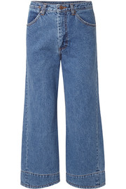 we11done Cropped high-rise wide-leg jeans
