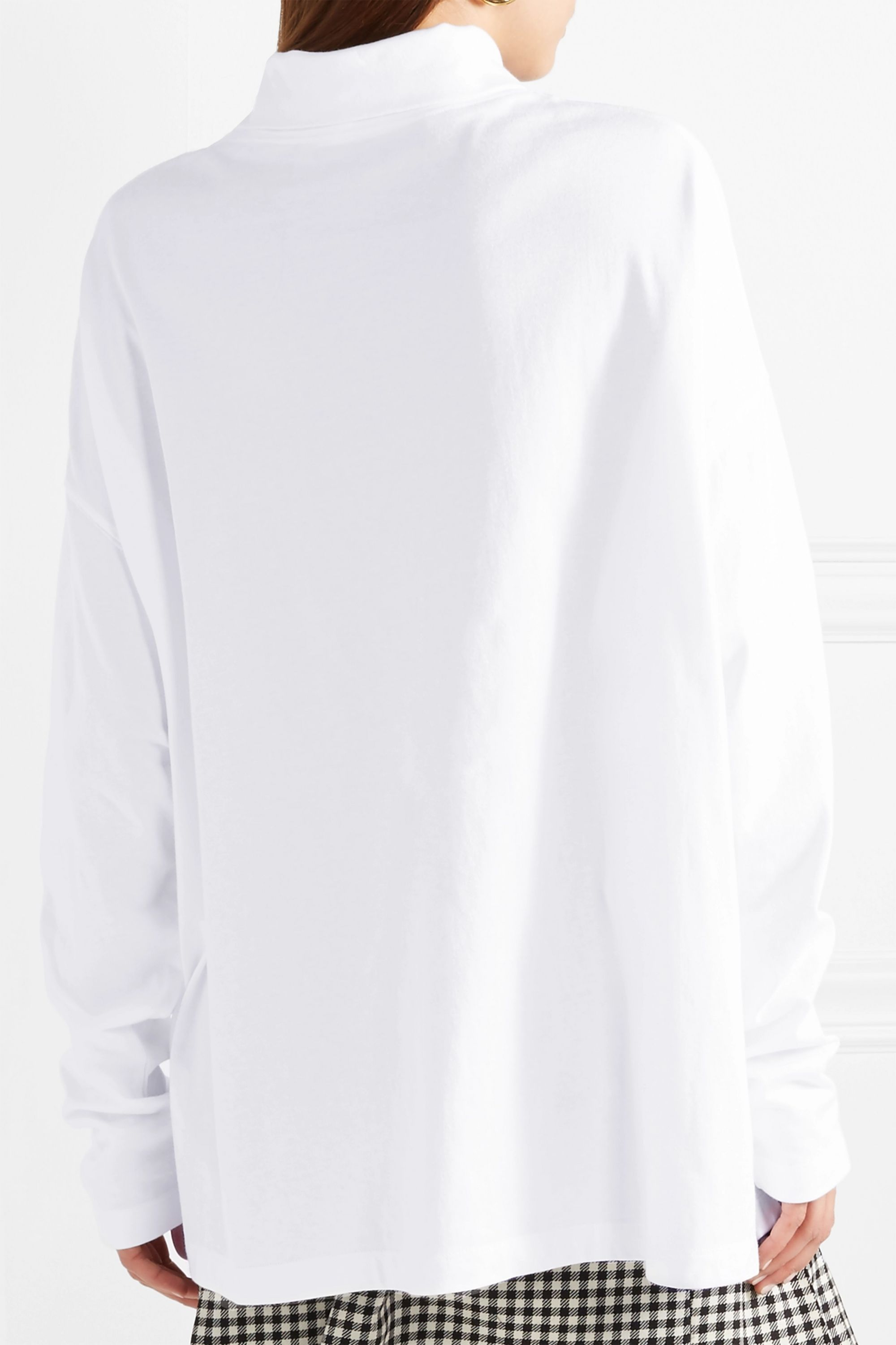 we11done Oversized cotton-jersey turtleneck top