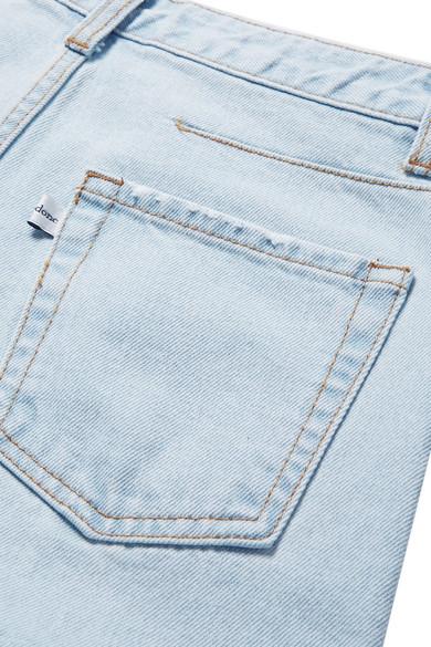 we11done Verkürzte, hoch sitzende Jeans mit weitem Bein