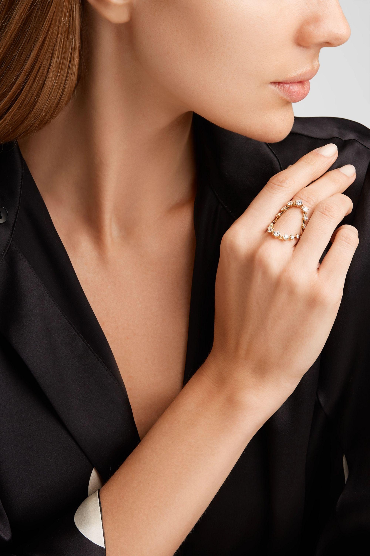 Gold Brilliant 18 Karat Gold Diamond Ring Fernando Jorge Net A Porter