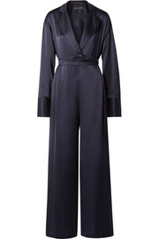Silk-satin jumpsuit