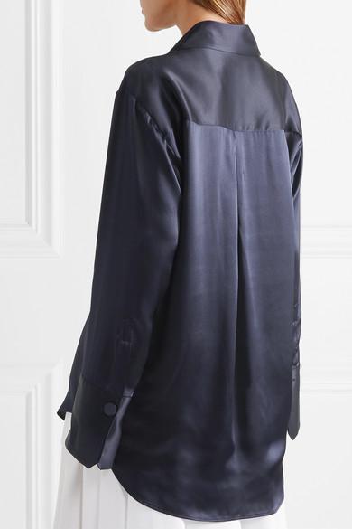 Michael Lo Sordo Oversized-Hemd aus Seidensatin Günstig Kaufen Besuch Neu Billig Mit Master Bilder GFq6kSr1Gl