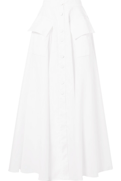 Michael Lo Sordo Maxi Skirt Made Of Cotton Poplin