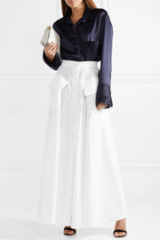 Cotton-poplin maxi skirt