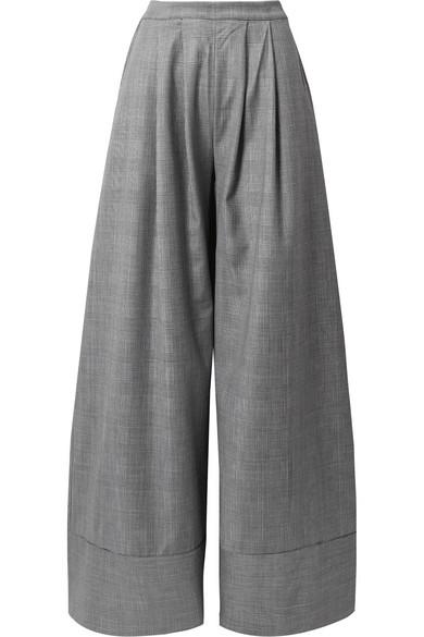 Michael Lo Sordo Wollhose mit weitem Bein und Glencheck-Muster
