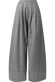 Michael Lo Sordo Prince of Wales checked wool wide-leg pants