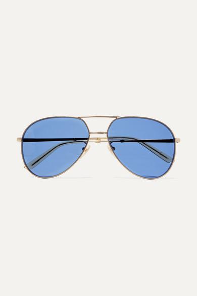 02a69762d1f386 Gucci   Lunettes de soleil aviateur dorées   NET-A-PORTER.COM