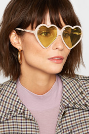 Heart-shaped acetate sunglasses