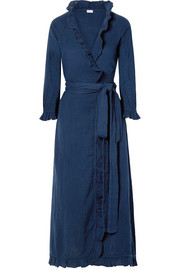 Rhode Resort Jagger ruffled cotton-gauze maxi wrap dress