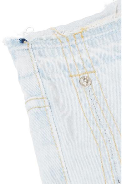 SJYP Hoch sitzende Jeans mit weitem Bein und Fransen