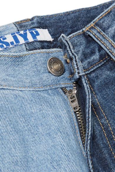 SJYP Zweifarbige Distressed-Jeans mit weitem Bein