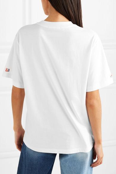 SJYP Besticktes T-Shirt aus Baumwoll-Jersey