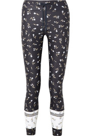 The Upside Cropped floral-print stretch leggings