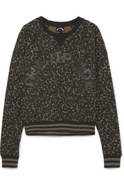 The Upside Printed cotton-jersey sweatshirt