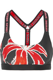 Alex floral-print stretch sports bra