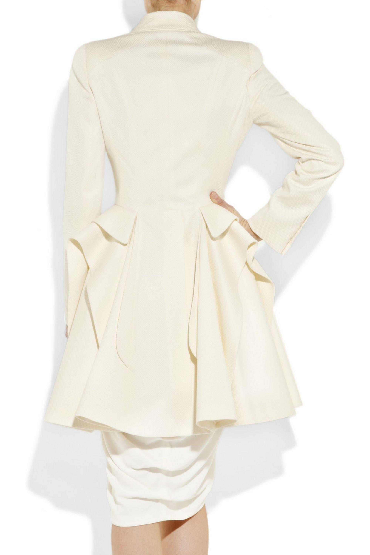 Alexander McQueen Cotton and wool-blend piqué coat