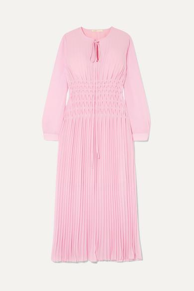 Clearance Best Place Cheap Discounts Pleated Chiffon Midi Dress - Pink Maje Limited New Style pbk90Ihr