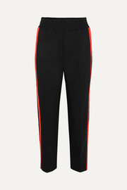 Maje Striped cotton-blend track pants