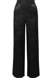 Maje Satin-jacquard straight-leg pants