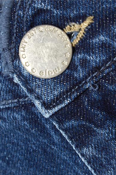 Maje Jeansshorts mit Wellenkante