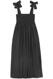 Lahaina Swiss-dot cotton midi dress