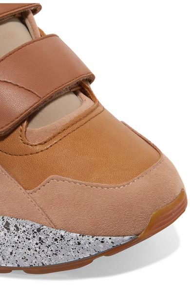 Stella McCartney | Eclypse Sneakers aus mit Kunstleder, Velourslederimitat und Neopren mit aus Logo 95c093