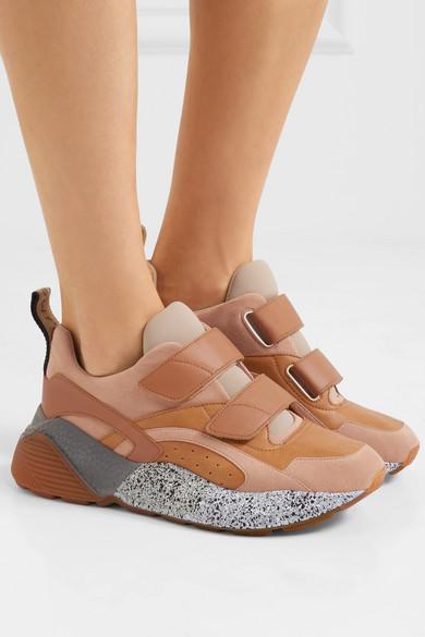 Stella McCartney Eclypse Sneakers aus Kunstleder, Velourslederimitat und Stretch-Jersey
