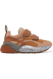Stella McCartney Eclypse faux leather, suede and stretch-jersey sneakers