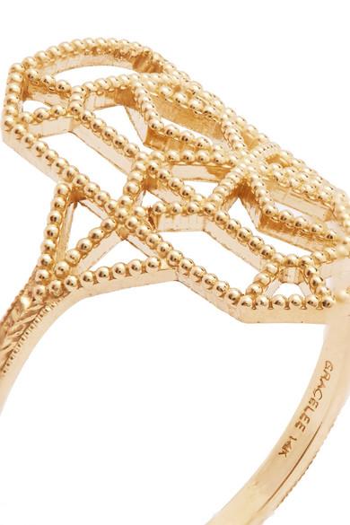 Grace Lee Designs Lace 14-karat Gold Earring Ah58vV39