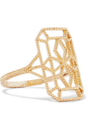 Lace Deco VIII 14-karat gold ring