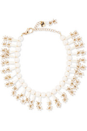 Amore gold-tone pearl necklace