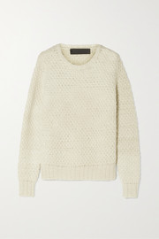 The Elder Statesman Pop waffle-knit cashmere sweater