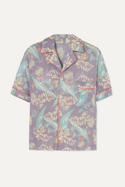 The Elder Statesman Printed cashmere and silk-blend shirt