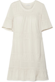 James Perse Ruched voile mini dress