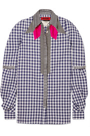 Cowgirl patchwork gingham cotton-poplin shirt