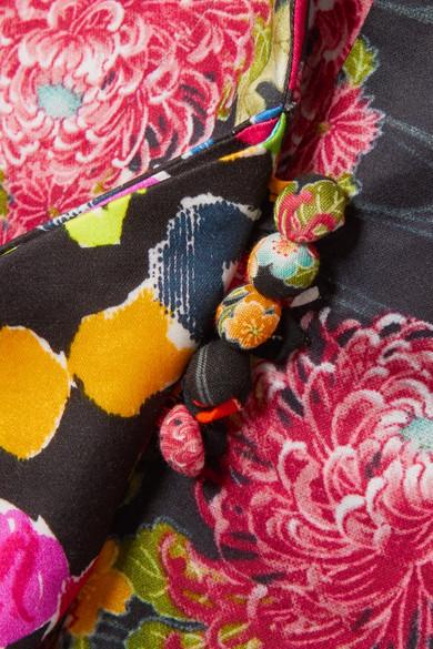 Ronald Van Der Kemp Jacke aus einer Baumwollmischung mit Blumenprint