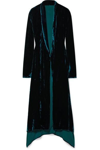 Juan Carlos Obando - Silk-blend Velvet Coat - Teal