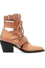 Chloé Rylee cutout leather ankle boots
