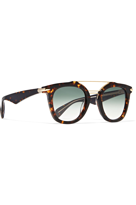 rag & bone Cat-eye tortoiseshell acetate and gold-tone sunglasses