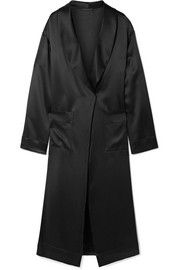 Silk-charmeuse robe