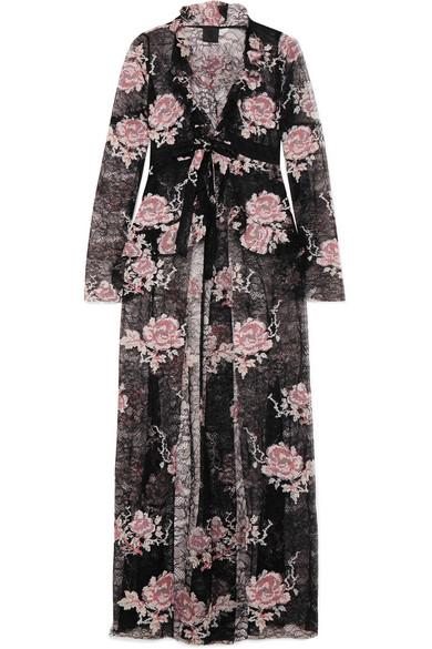 Anna Sui Jacke aus floral bedruckter Spitze