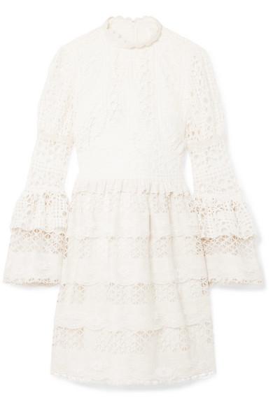 Dew Drop & Trellis Guipure Lace Mini Dress - Cream Anna Sui 1DV6nUITdi