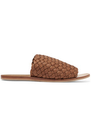 Corfu woven leather slides