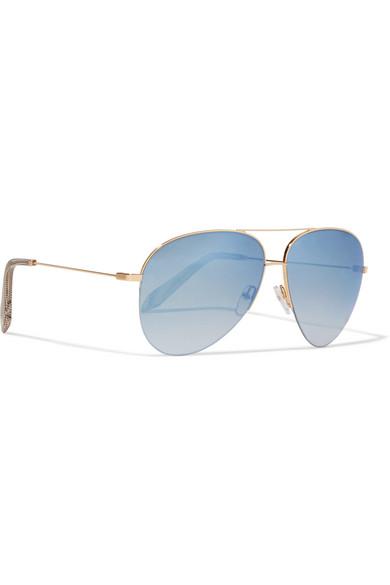 Aviator-style Gold-tone Sunglasses - one size Victoria Beckham 2rnkfhaHt