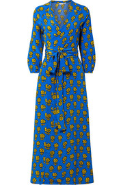 Rhode Resort Jagger printed silk crepe de chine wrap dress